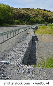 Kaikoura Earthquake Damage at the top of the Hunderlee Hills  before and one year, one month & 1 Day after the devastating 7.8 Earthquake.