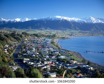 Kaikoura, an east coast town on the south island of New Zealand.