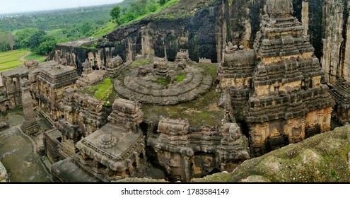 Kailasa, also Ellora Caves is a Hindu, Buddhist, and Jain temples and monuments which were carved from the local cliff rock.