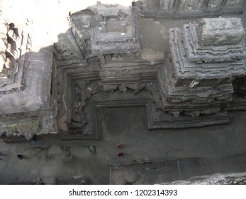 The Kailash or Kailasanatha cave temple in Ellora caves. One of the largest rock-cut ancient Hindu temples located in Ellora, Maharashtra, India. Carved out of one single rock.