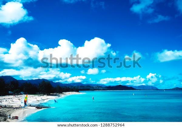 Kailua Beach Park Oahu Hawaii Usa Stock Photo Edit Now