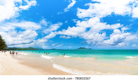 Kailua Beach in Kailua Town, Oahu Island, Hawaii