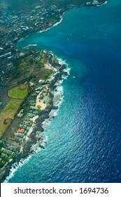 Kailua-Kona, Big Island aerial shot, Hawaii