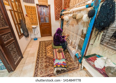 KAIROUAN, TN - MARCH 16, 2017: Kairouan is a UNESCO World Heritage site, founded by the Umayyads around 670 in Tunisia.