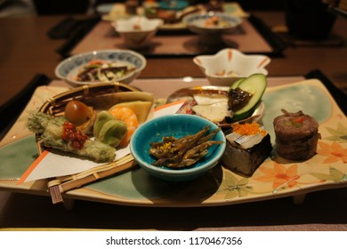 Kaiseki dinner at Sunnide Resort , Kawaguchiko, Japan