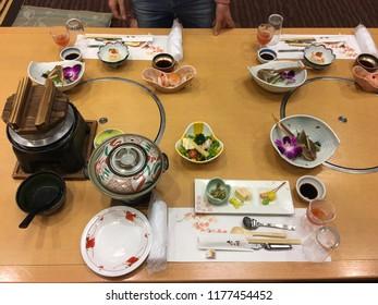 Kaiseki dishes served in Gifu Japan