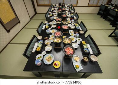 Kaiseki or Japanese traditional multi course menu