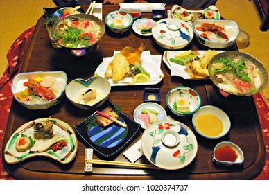 Kaiseki meal at Houshi Onsen Chojukan, Gunma prefecture, Japan