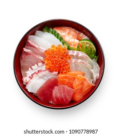 Kaisen-Don(a bowl of rice with sashimi on top)