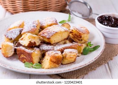 Kaiserschmarrn - traditional austrian pancake dessert