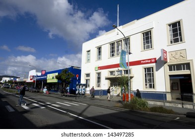 KAITAIA, NZ - JUNE 21:Kaitaia main road on June 21 2013.It's a town in the far north region of New Zealand and the last major settlement in the north island of NZ.