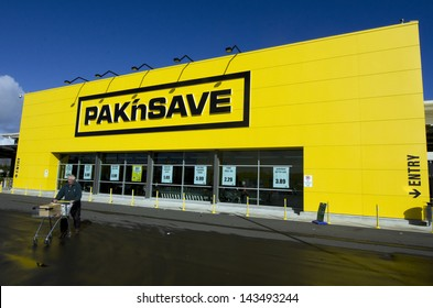 KAITAIA, NZ - JUNE 21:The new PAK'nSAVE Supermarket of Kaitaia on June 21 2013.The first Pak'nSave opened in 1985, at Kaitaia in the North Island.