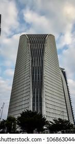 Kajang, Malaysia - April 14, 2018 : Panorama view skycrapper building  at Putrajaya Malaysia