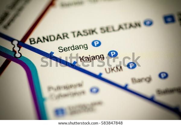 Kajang Station Kuala Lumpur Metro Map Stock Photo (Edit Now ...