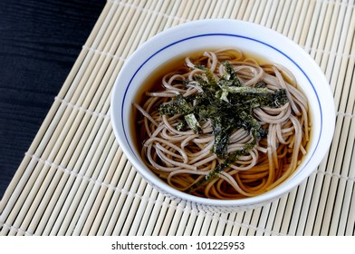 Kakesoba (buckwheat noodles in hot broth) , japanese food