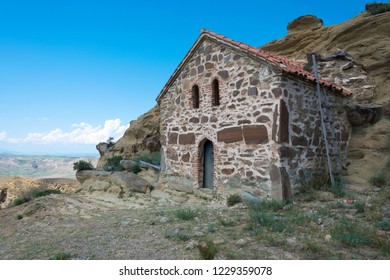 Kakheti, Georgia - Jul 20 2018: David Gareja monastery complex. a famous historic site in Kakheti, Georgia.