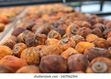 Kaki dried persimmon fruits , type of traditional dried fruits