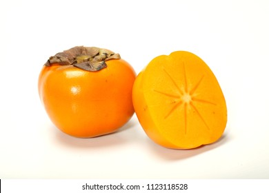 Kaki fruit isolated on white background