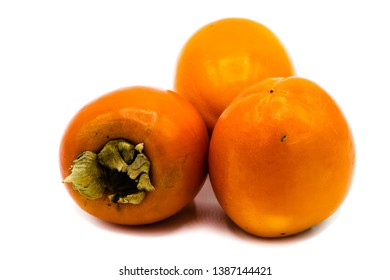 kaki fruit isolated on white background