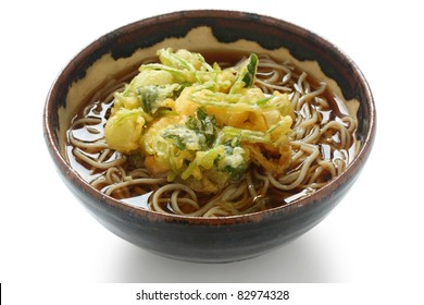 kakiage soba(buckwheat noodles topped with shrimp and vegetable tempura)  , japanese food