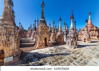 Kakku pagodas are nearly 2500 beautiful stone stupas hidden in a remote area of Myanmar