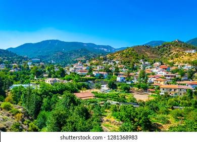 Kakopetria village on Cyprus
