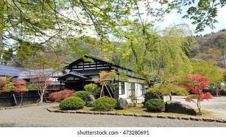 KAKUNODATE, JAPAN,30 APRIL 2016 : beautiful samurai village in Kakunodate in Japan in summer