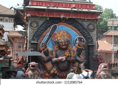 Kal Bhairav image in Kathmandu Durbar Square