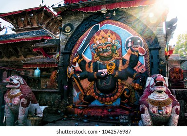Kal Bhairav statue in Durbar Square Kathmandu