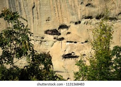 Kalabaka,Greece,09/22/2018: Skete of Saints Gregory