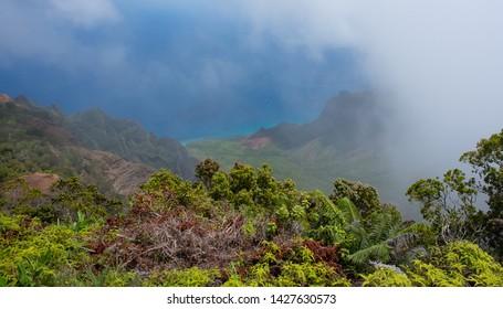 Kalalau Lookout On The Island Kauai