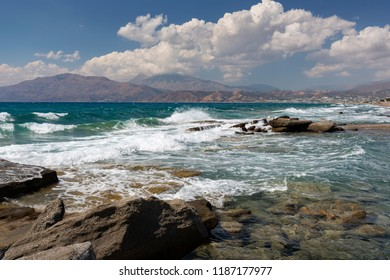 Kalamaki beach on the island of Crete, Greece