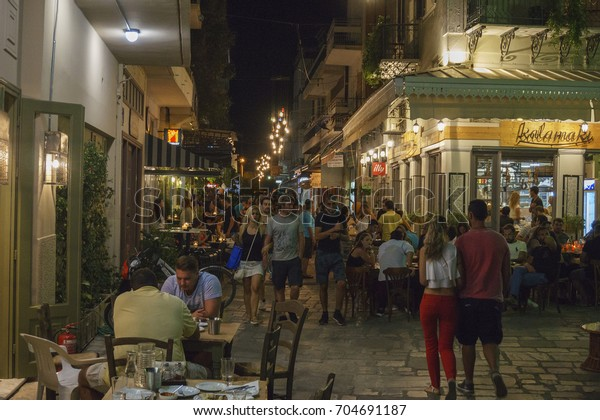 Kalamata Greece August 2017 People Tourists Stock Photo (Edit Now ...