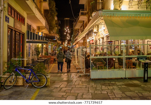 Kalamata Greece December 2017 Christmas Atmosphere Stock Photo ...