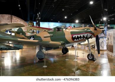 Kalamazoo, MI, USA - June 23, 2016: Bell P-39Q on display at the Air Zoo Museum in Kalamazoo, Michigan