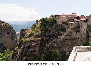 Kalambaka, Greece - June 17, 2018.Meteora monastery region of the village of Kalambaka Greece.