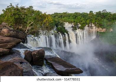 Kalandula waterfalls of Angola in full flow