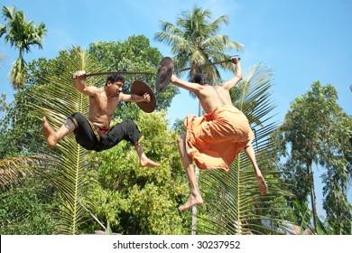 Kalarippayat,fight in air,  indian ancient martial art of Kerala
