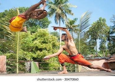 Kalarippayat,fight in air,  indian ancient martial art of Kerala,  India