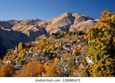 KALARRYTES VILLAGE, GREECE. One of the most beautiful Greek mountainous villages, on Tzoumerka mountains, Ioannina, Epirus.