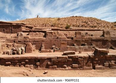 Kalasayaya temple, Tiahuanaco, Pumapunku, Bolivia