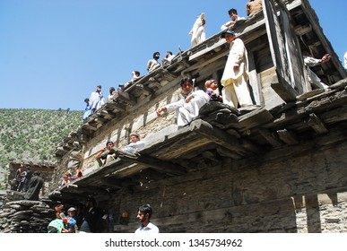 kalash / Pakistan - May 14, 2011: traditional house of the Kalash tribe, Pakistan