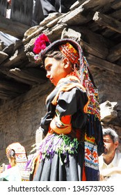 kalash / Pakistan - May 14, 2011: women in the Kalash tribe tradition, 2011. Pakistan