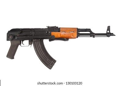 Kalashnikov airborn version assault rifle on white