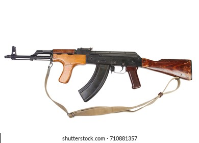 Kalashnikov AK 47 Romanian version isolated on white