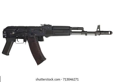 kalashnikov AK 74M assault rifle on white