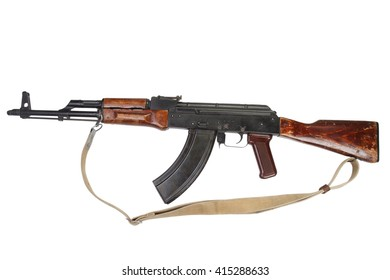 Kalashnikov AKM isolated on white background