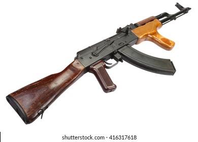 Kalashnikov AKM isolated on white background