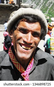 Kalash/Pakistan, May 4, 2011 : the smile of the Kalash tribe man. pakistan