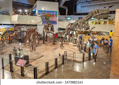 KALASIN, THAILAND - JULY 28, 2019: Sirindhorn Museum or Sirindhorn Dinosaur Museum is a geology museum in Sahatsakhan district, Kalasin province.
